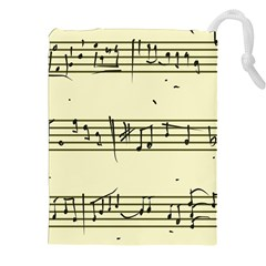 Music Notes On A Color Background Drawstring Pouches (XXL)