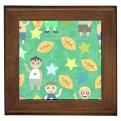 Football Kids Children Pattern Framed Tiles