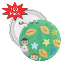 Football Kids Children Pattern 2.25  Buttons (100 pack)
