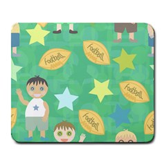 Football Kids Children Pattern Large Mousepads