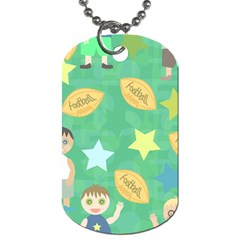 Football Kids Children Pattern Dog Tag (two Sides)