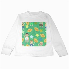 Football Kids Children Pattern Kids Long Sleeve T Shirts