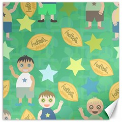 Football Kids Children Pattern Canvas 12  x 12