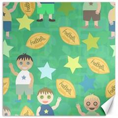 Football Kids Children Pattern Canvas 16  x 16