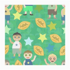 Football Kids Children Pattern Medium Glasses Cloth