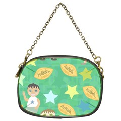 Football Kids Children Pattern Chain Purses (One Side)