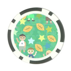 Football Kids Children Pattern Poker Chip Card Guard (10 pack)