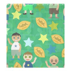 Football Kids Children Pattern Shower Curtain 66  x 72  (Large)