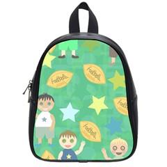 Football Kids Children Pattern School Bags (Small)