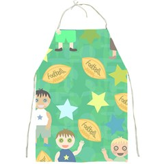 Football Kids Children Pattern Full Print Aprons