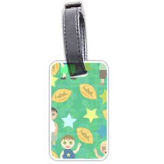 Football Kids Children Pattern Luggage Tags (two Sides)
