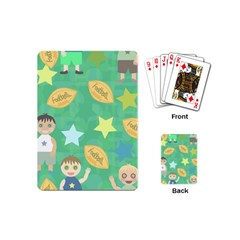 Football Kids Children Pattern Playing Cards (Mini)
