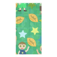 Football Kids Children Pattern Shower Curtain 36  X 72  (stall)