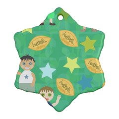 Football Kids Children Pattern Ornament (Snowflake)