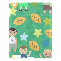 Football Kids Children Pattern Apple Ipad 3/4 Hardshell Case