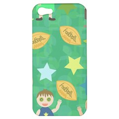 Football Kids Children Pattern Apple Iphone 5 Hardshell Case