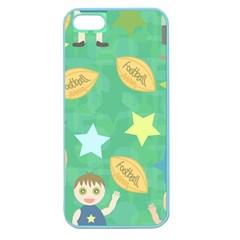 Football Kids Children Pattern Apple Seamless Iphone 5 Case (color)