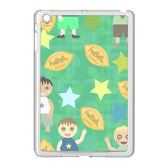 Football Kids Children Pattern Apple iPad Mini Case (White)