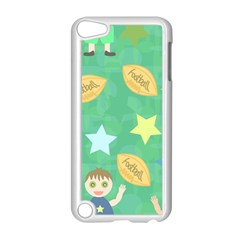Football Kids Children Pattern Apple iPod Touch 5 Case (White)