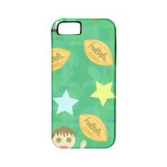 Football Kids Children Pattern Apple Iphone 5 Classic Hardshell Case (pc+silicone)