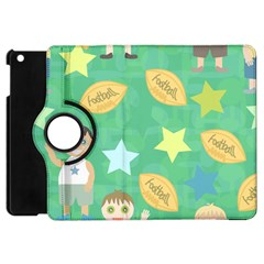 Football Kids Children Pattern Apple iPad Mini Flip 360 Case
