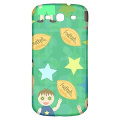 Football Kids Children Pattern Samsung Galaxy S3 S Iii Classic Hardshell Back Case
