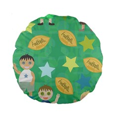 Football Kids Children Pattern Standard 15  Premium Round Cushions