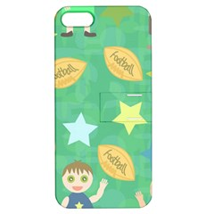 Football Kids Children Pattern Apple iPhone 5 Hardshell Case with Stand