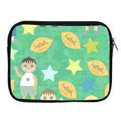 Football Kids Children Pattern Apple Ipad 2/3/4 Zipper Cases