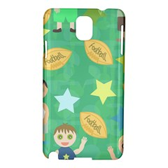 Football Kids Children Pattern Samsung Galaxy Note 3 N9005 Hardshell Case