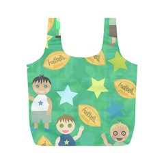 Football Kids Children Pattern Full Print Recycle Bags (m)