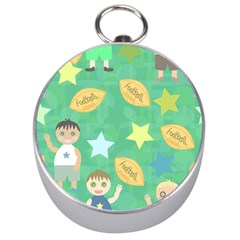 Football Kids Children Pattern Silver Compasses