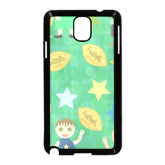 Football Kids Children Pattern Samsung Galaxy Note 3 Neo Hardshell Case (Black)