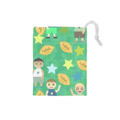 Football Kids Children Pattern Drawstring Pouches (Small)