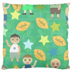 Football Kids Children Pattern Large Flano Cushion Case (Two Sides)