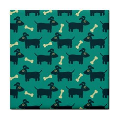Happy Dogs Animals Pattern Tile Coasters