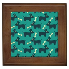 Happy Dogs Animals Pattern Framed Tiles