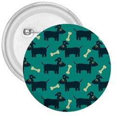 Happy Dogs Animals Pattern 3  Buttons