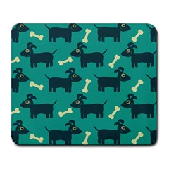 Happy Dogs Animals Pattern Large Mousepads
