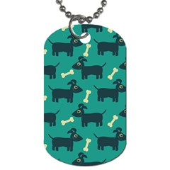 Happy Dogs Animals Pattern Dog Tag (two Sides)