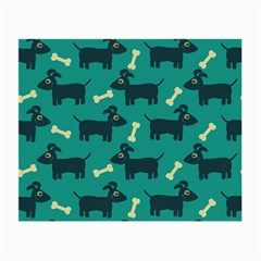 Happy Dogs Animals Pattern Small Glasses Cloth