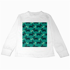Happy Dogs Animals Pattern Kids Long Sleeve T Shirts