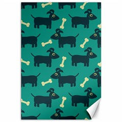 Happy Dogs Animals Pattern Canvas 12  x 18