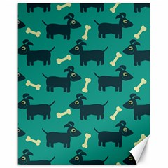 Happy Dogs Animals Pattern Canvas 16  x 20
