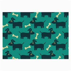Happy Dogs Animals Pattern Large Glasses Cloth