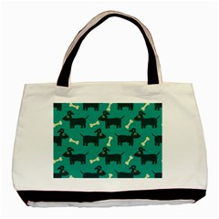 Happy Dogs Animals Pattern Basic Tote Bag (Two Sides)