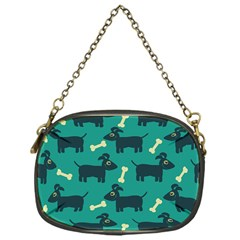 Happy Dogs Animals Pattern Chain Purses (one Side)