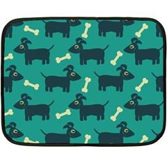 Happy Dogs Animals Pattern Double Sided Fleece Blanket (mini)