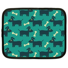 Happy Dogs Animals Pattern Netbook Case (XL)