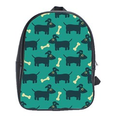 Happy Dogs Animals Pattern School Bags(Large)